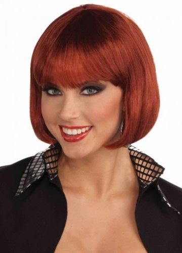 fancy red bob hairstyle short