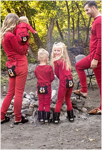 Lazy one inc funny pajamas for men women and kids for Funny matching family christmas pajamas
