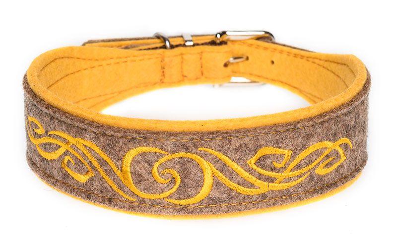 """Besticktes Halsband """"Highlander"""" für einzigartige Hunde. Breite ca. 4 cm, in zahlreichen Farbkombinationen erhältlich."""