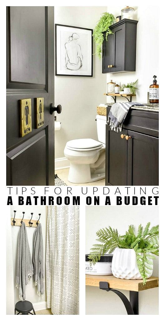 Budget-Friendly Vintage Modern Hall Bathroom Refresh images