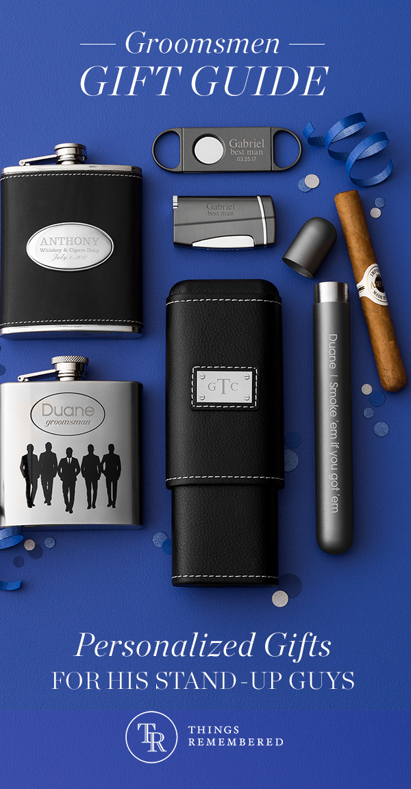 Thank Your Groomsmen For Being There For You And Your Bride With Personalized Gifts They L Groomsmen Gifts Personalized Gifts For Wedding Party Groomsman Gifts