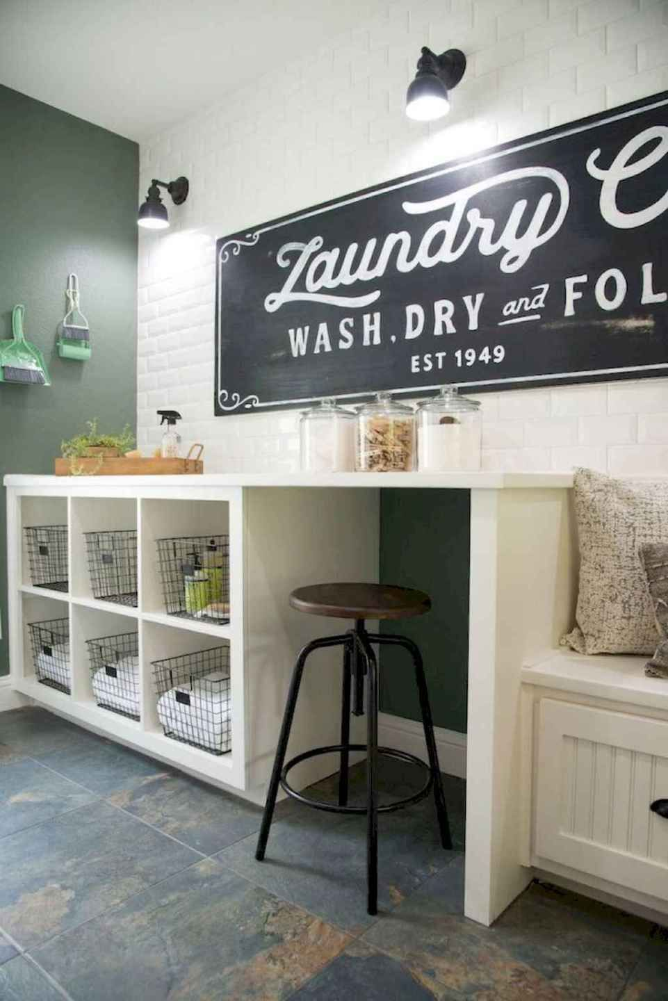 45 Rustic Farmhouse Laundry Room Design Ideas and Makeover (17