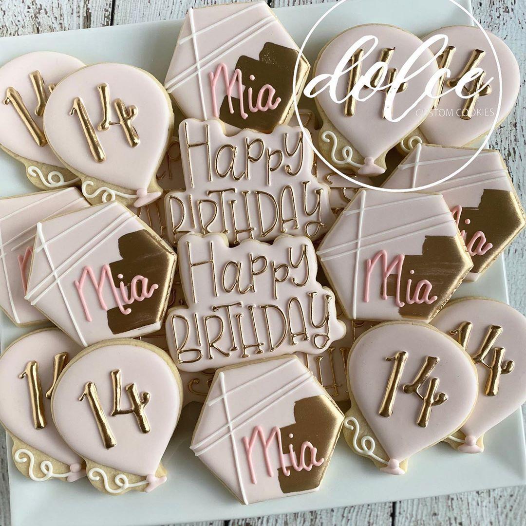 "Christy on Instagram: ""#birthdaycookies #decoratedcookies #decoratedsugarcookies #royalicing #royalicingcookies #instacookies #cookiesofinstagram #cookieart…"""