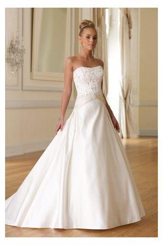 A Line Wedding Dress Styles