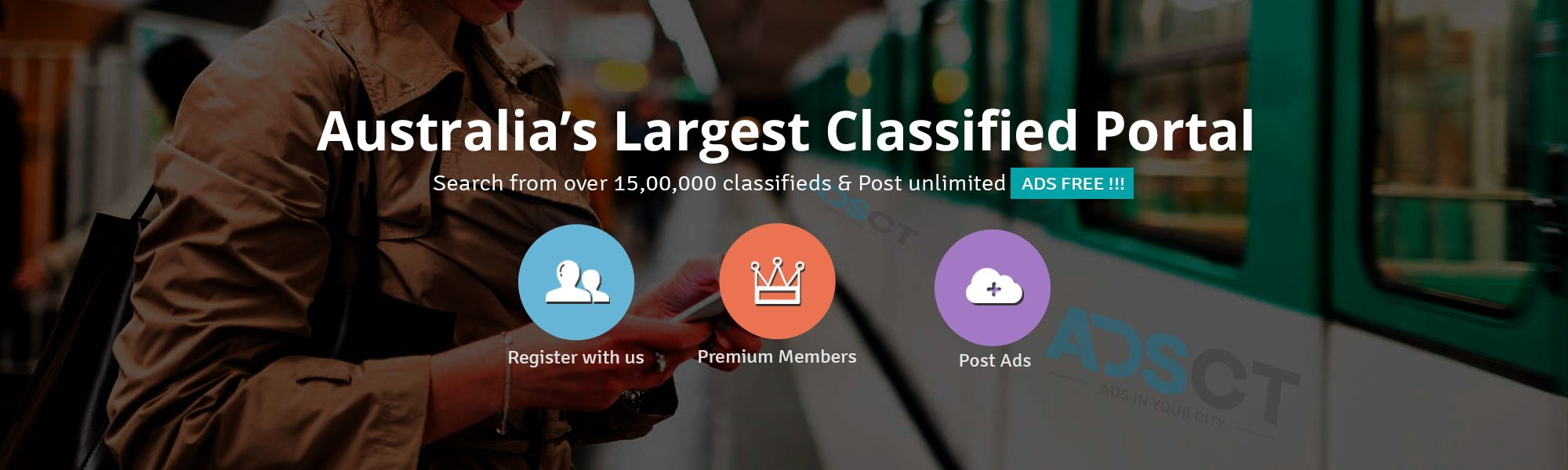 Posting an ad on ADSCT Classified is free and easy  It only takes a