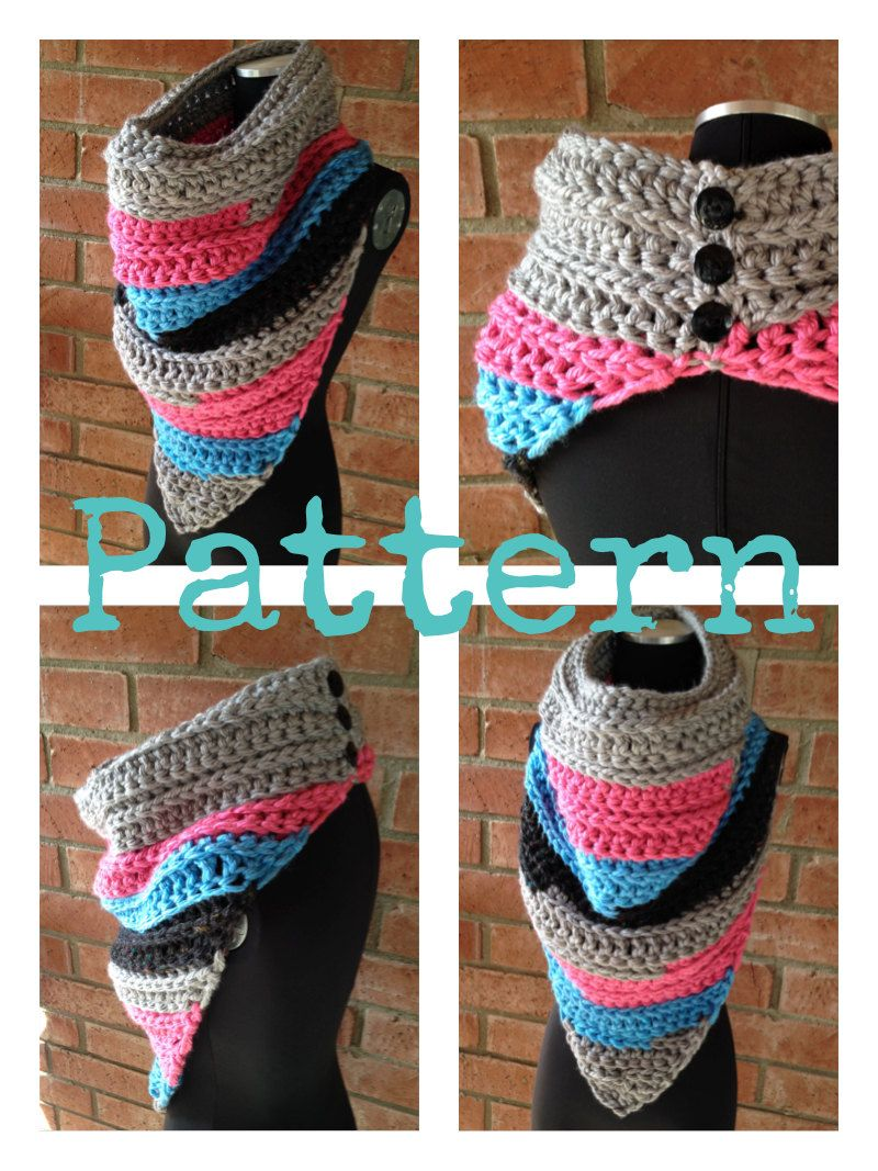Cowl on Pointe CROCHET PATTERN ONLY Bandana Style Cowl | Poncho ...