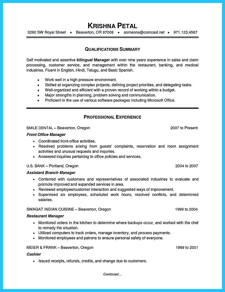 Awesome Writing A Great Assistant Property Manager Resume