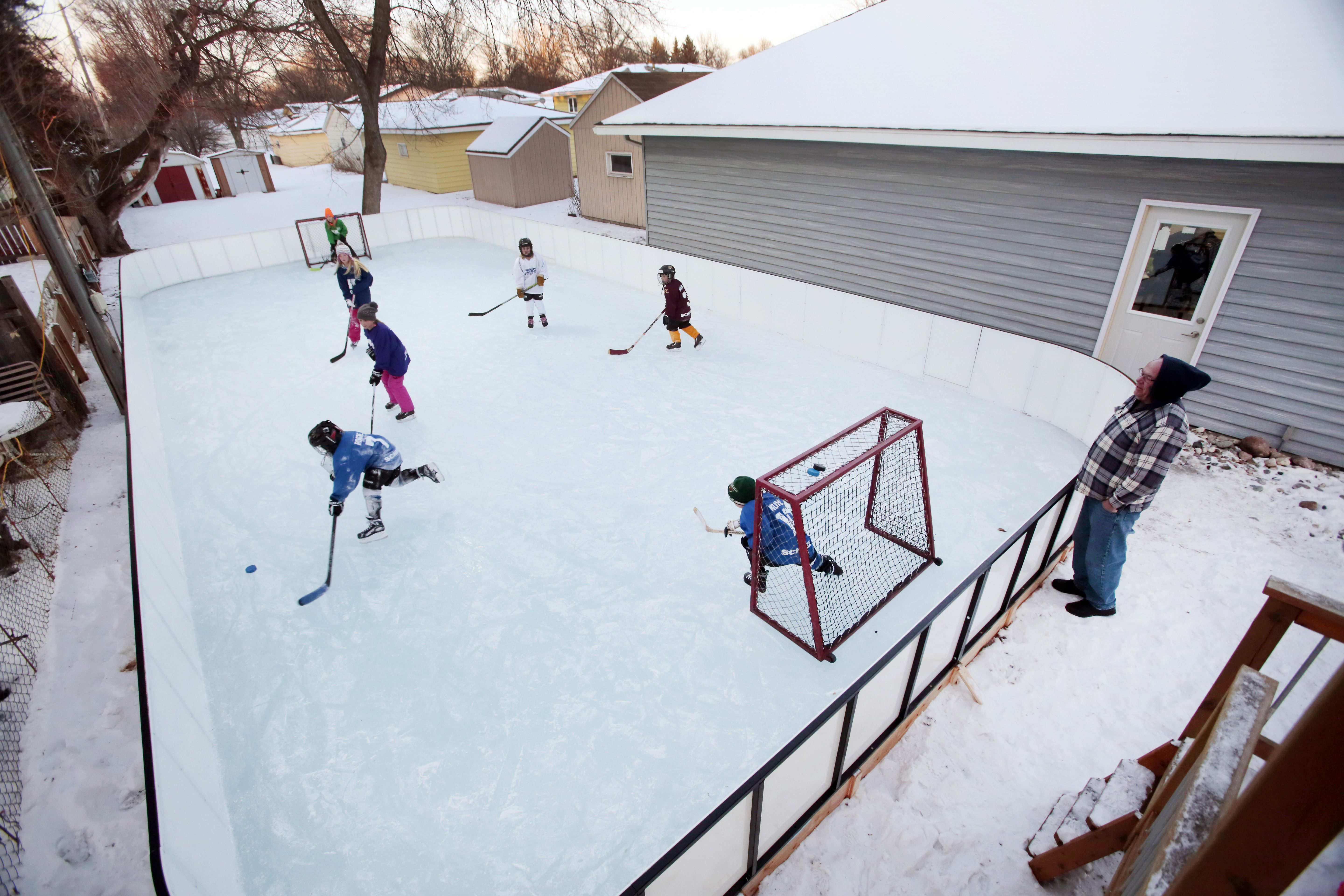 build your own backyard ice rink home pinterest backyard ice