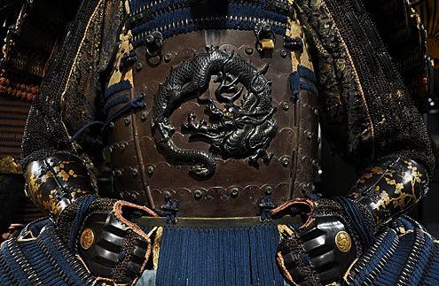 #2 Japanese Amure Clan Ikeda dragon on Samurai armor plate amure-samurai-dragon-amor-plate-495x323