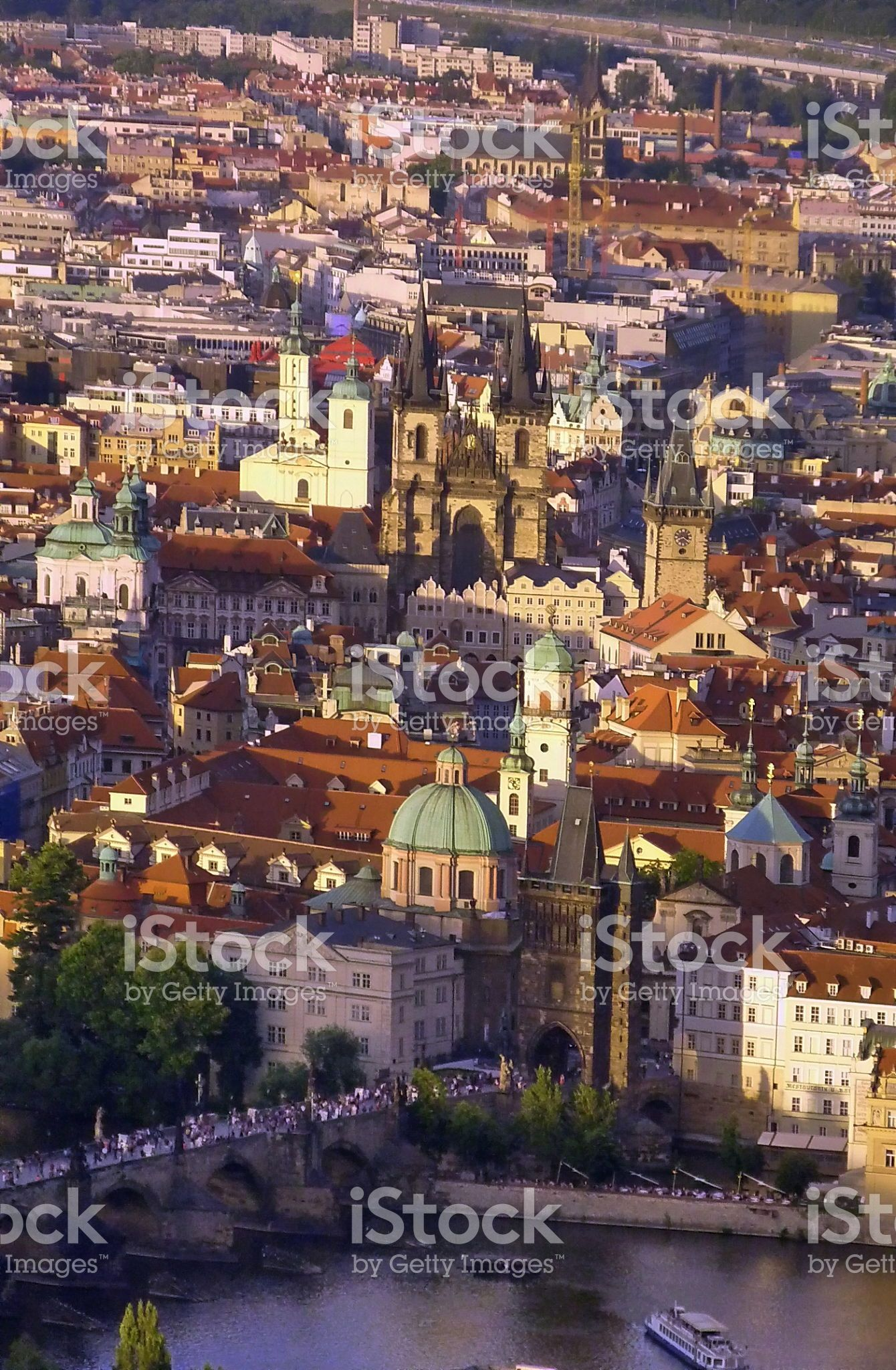 View of Prague from Petrin Tower foto stock royalty-free
