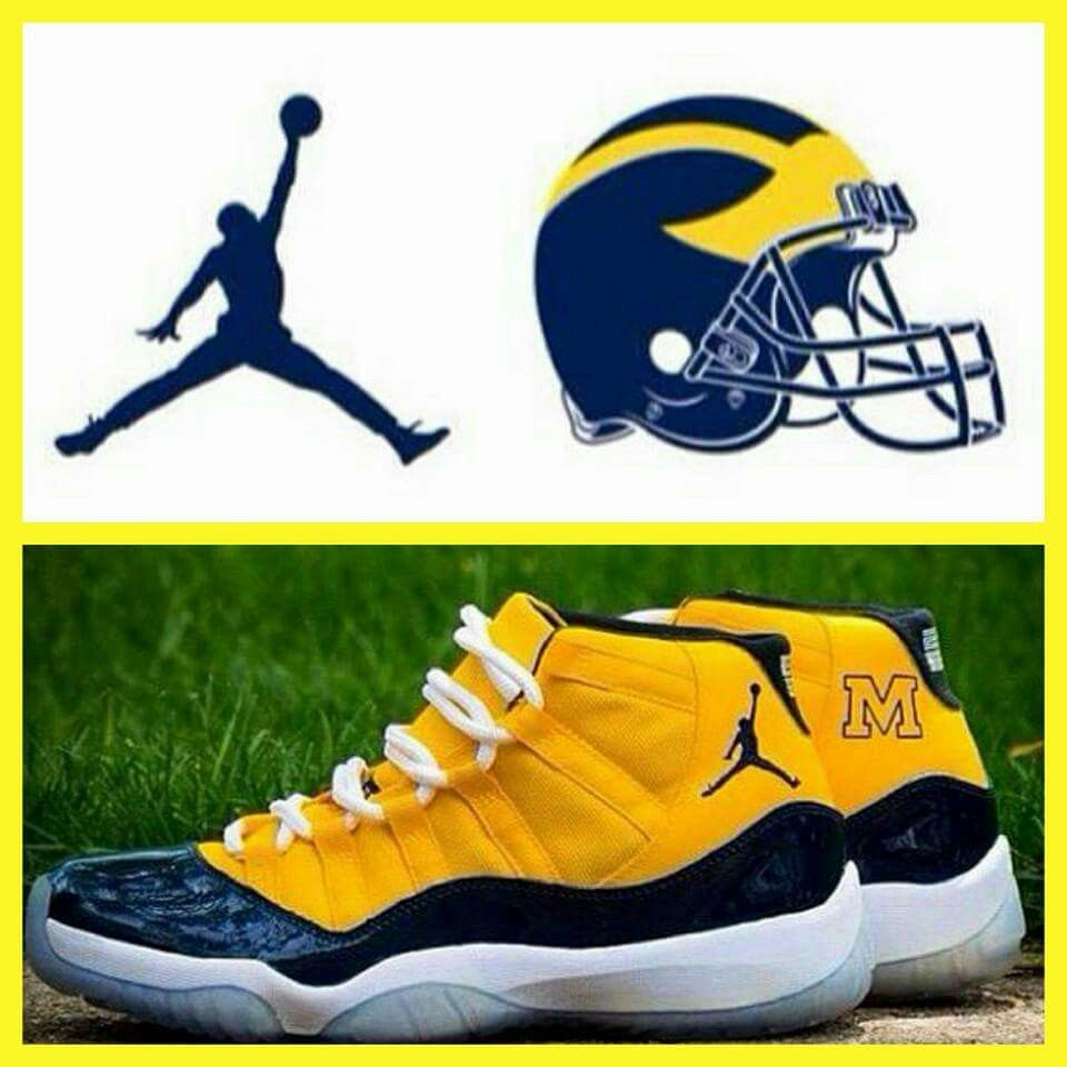 Michigan Jordan Gear >> I Want These Shoes Go Blue Michigan Wolverines