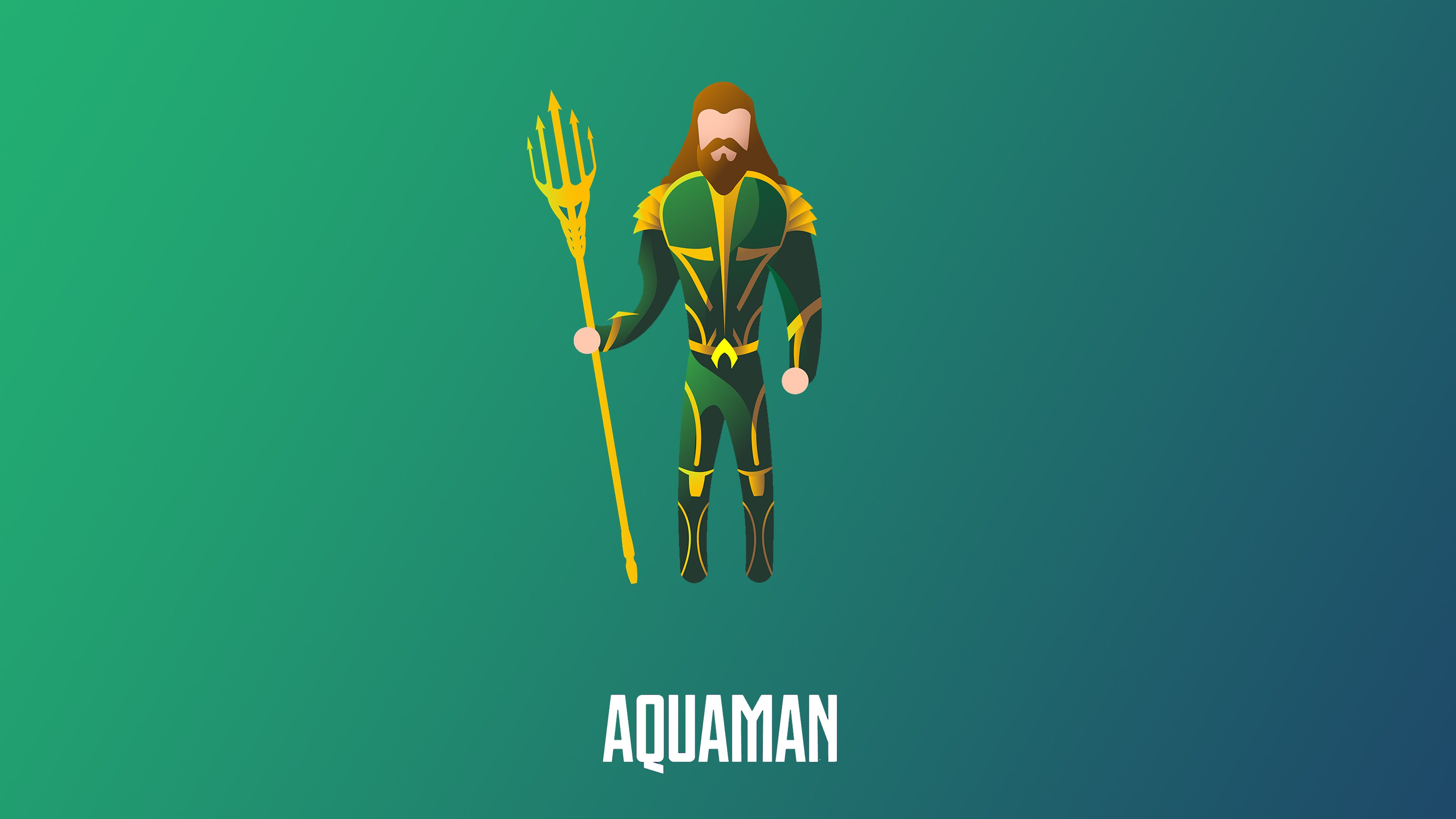 Aquaman Illustration 4k Superheroes Wallpapers Minimalist