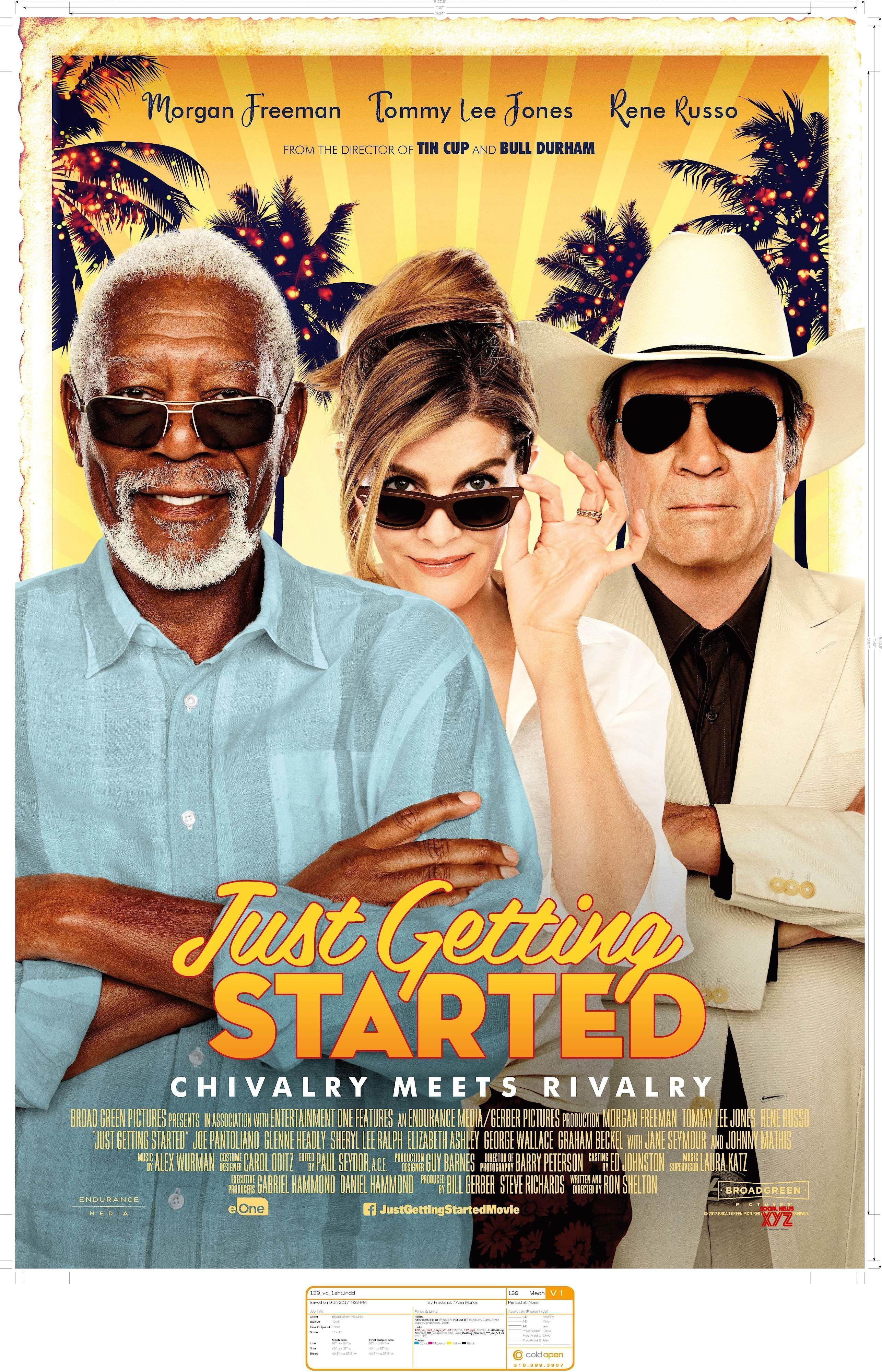 Just Getting Started Movie Poster - Social News XYZ Morgan Freeman,  Streaming Vf, Films