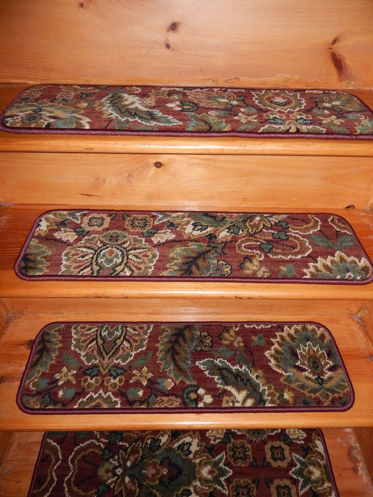 Best 13 Steps 9 X 30 Stair Treads Woven Wool Premium Carpet 400 x 300