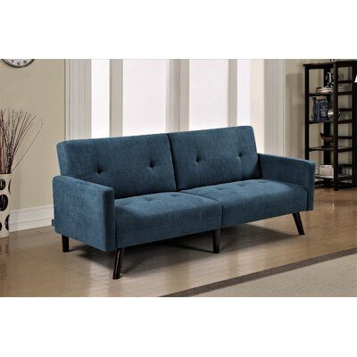 Terrific Wrought Studio Eldon Sofa Bed Upholstery Color Blue Ncnpc Chair Design For Home Ncnpcorg