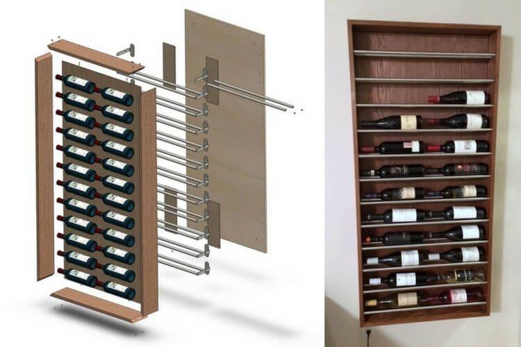 Wall Wine Rack A Brogrund Towel Rail Hack Wine Rack Wall Ikea Wine Rack Wine Rack