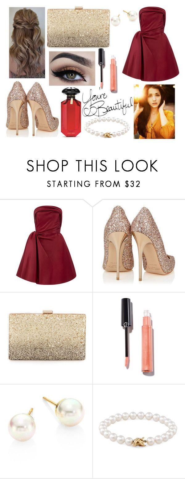 """#470"" by glitterunicorns-are-awesome ❤ liked on Polyvore featuring Oscar de la Renta, Neiman Marcus, Majorica, Tiffany & Co. and Victoria's Secret"