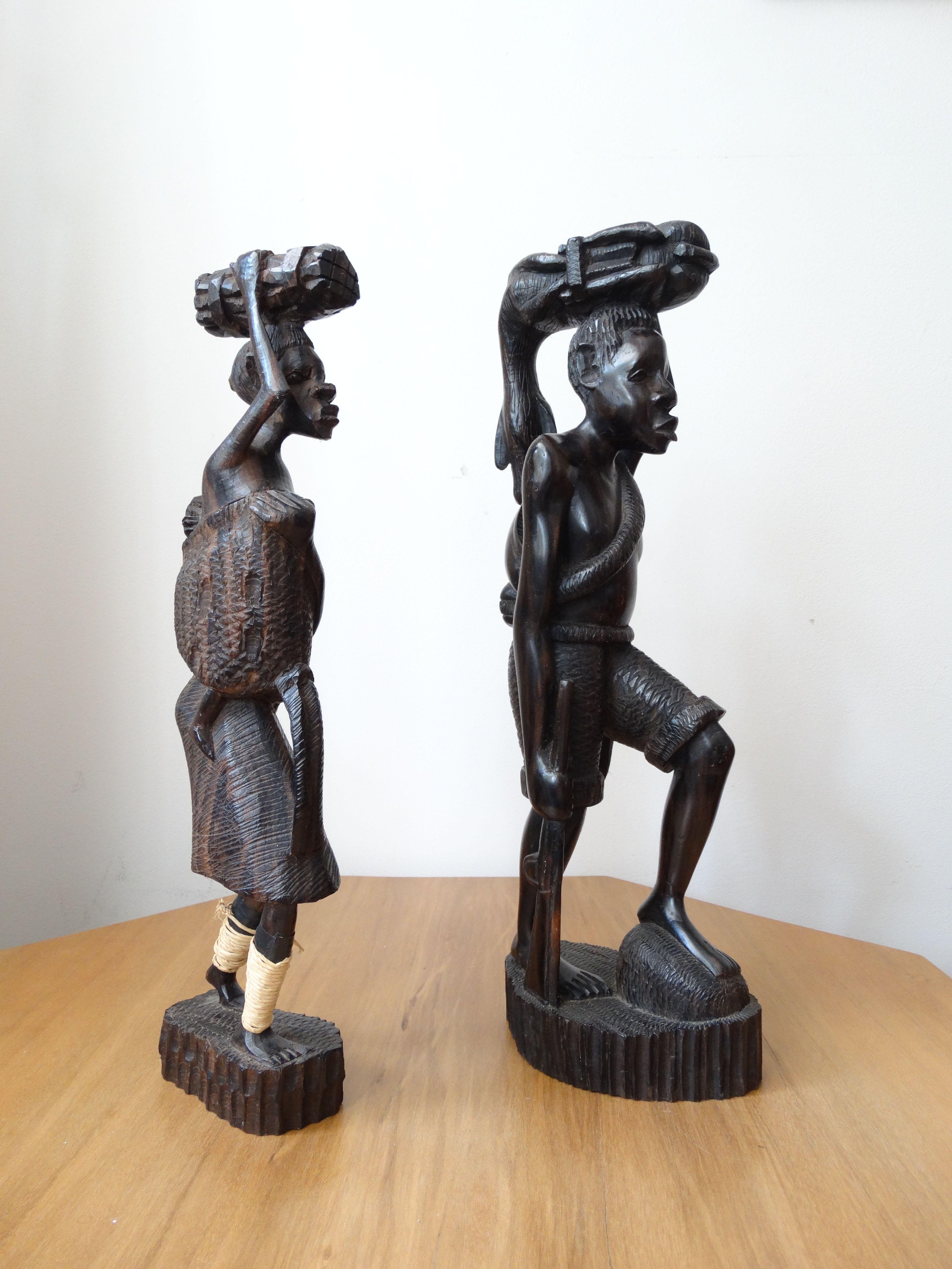 Escultura em madeira ébano - Angola
