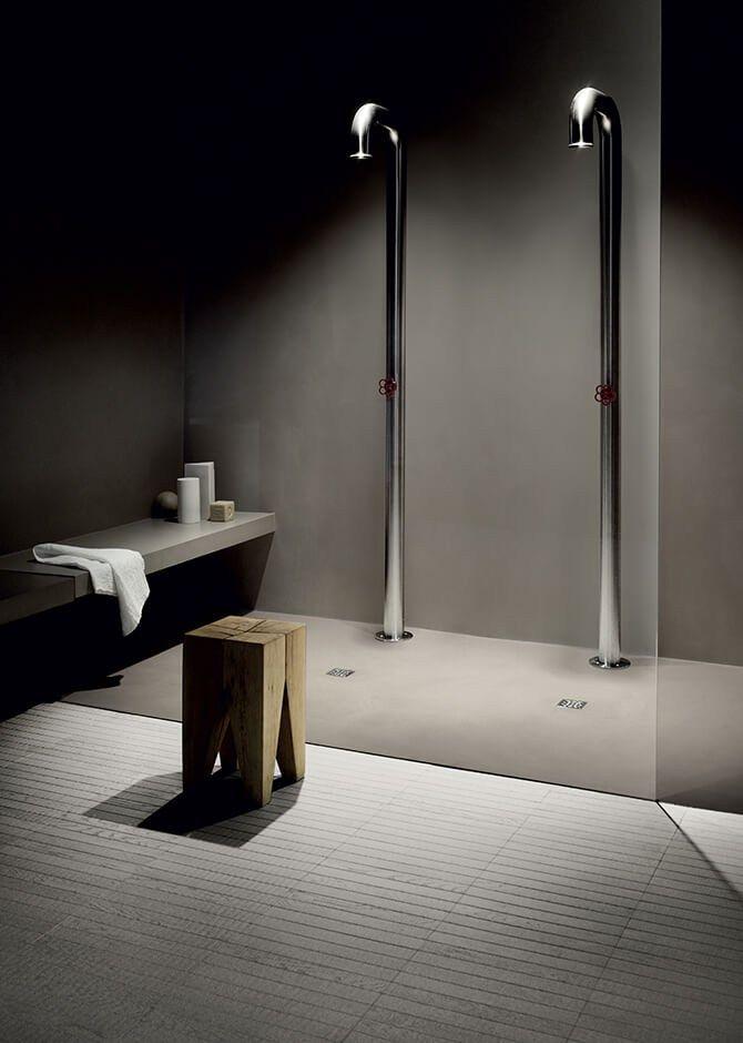Indoor cement wall tiles WALLCRETE (WCR) Kerakoll Design