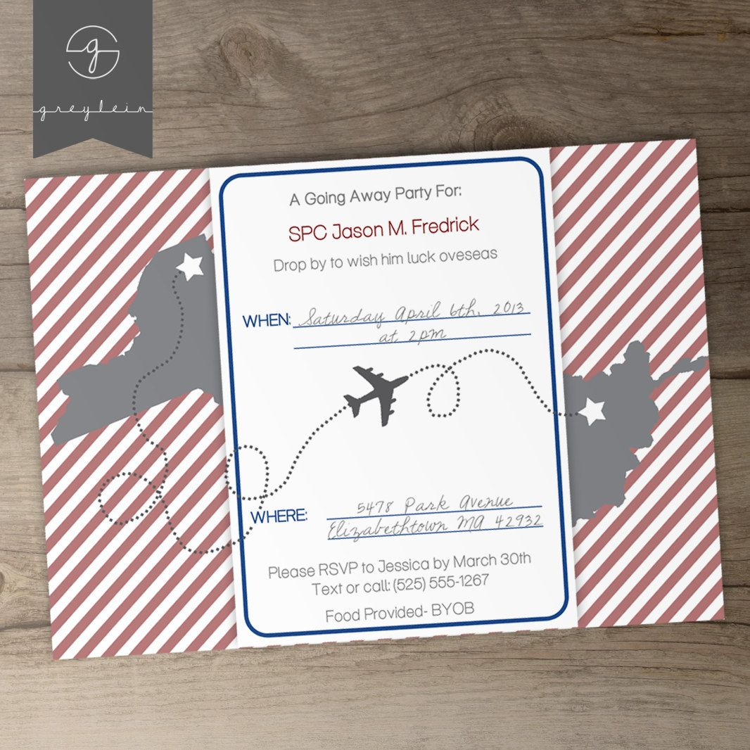 Moving / Going Away Party Invitations or Announcements - DIY ...