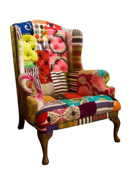Kelly Swallow patchwork chair Перекрашки мебель Pinterest