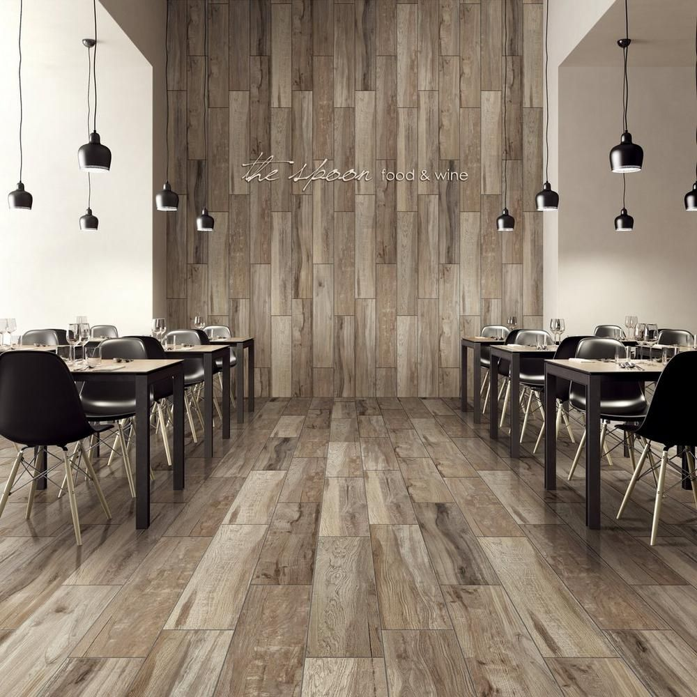New Kent Gray Wood Plank Ceramic Tile 8in. x 40in