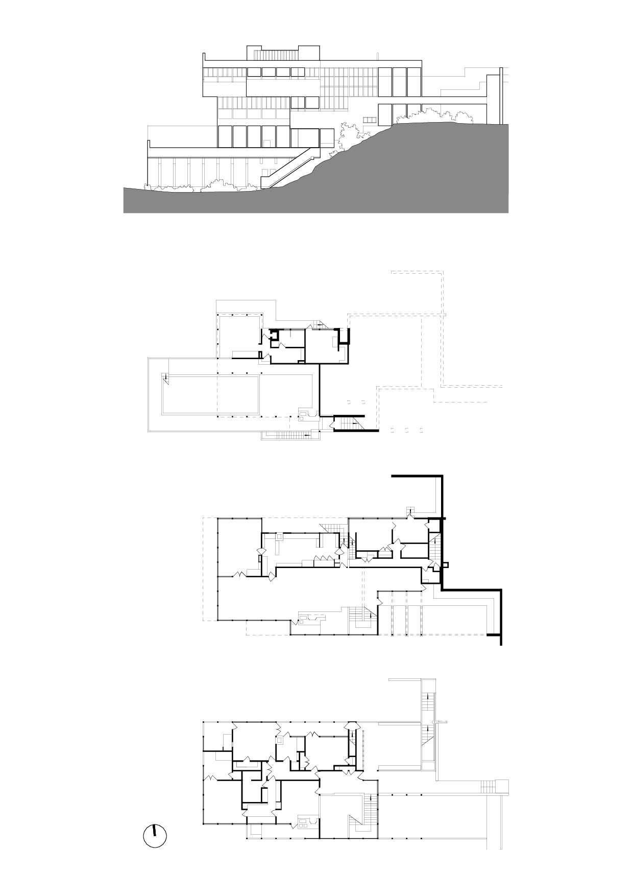 Sections And Elevations Lovell Health House Richard