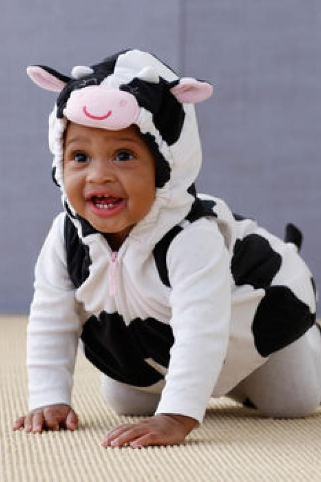 $6 - Baby Cow Halloween costume  sc 1 st  Pinterest & $6 - Baby Cow Halloween costume | My a Justice | Pinterest | Baby ...