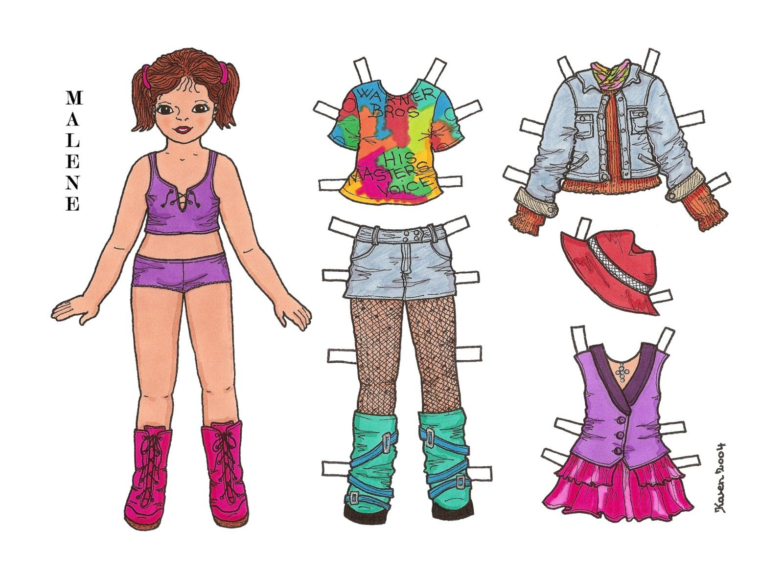 Karen`s Paper Dolls: February 2012.  (Visit site for the rest of this set).