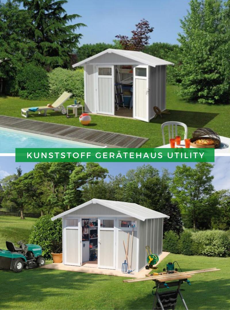 Kunststoff Geratehaus Utility Gartenhaus Weiss Hinterhof Hangematte Kunststoff