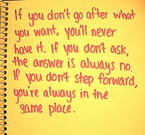Step forward so you're not always in the same place.