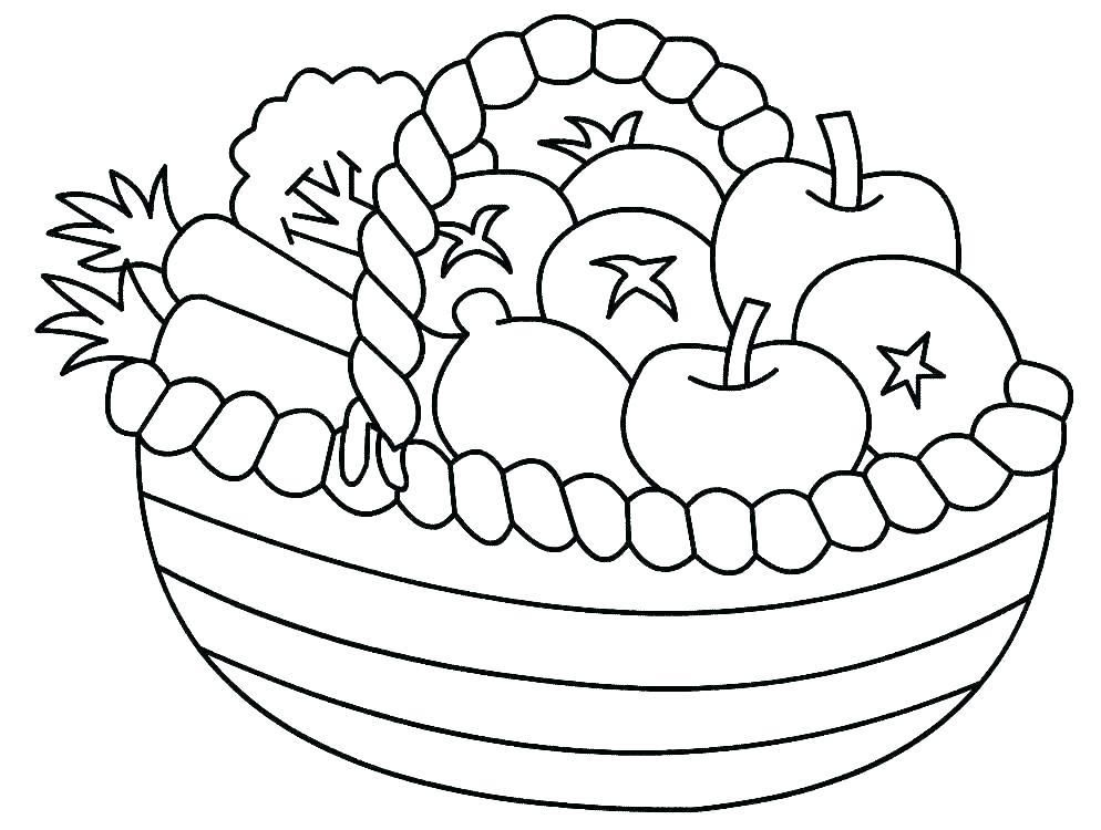 Basket Coloring Page Basket Coloring Printable Basket Coloring