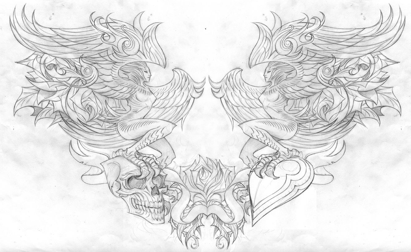 Angel Wings Clipart Google Search Chest Piece Tattoos Chest