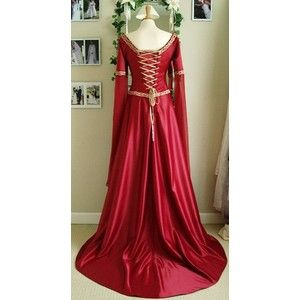 Make Your Red Medieval Wedding Gowns A Dream Come True