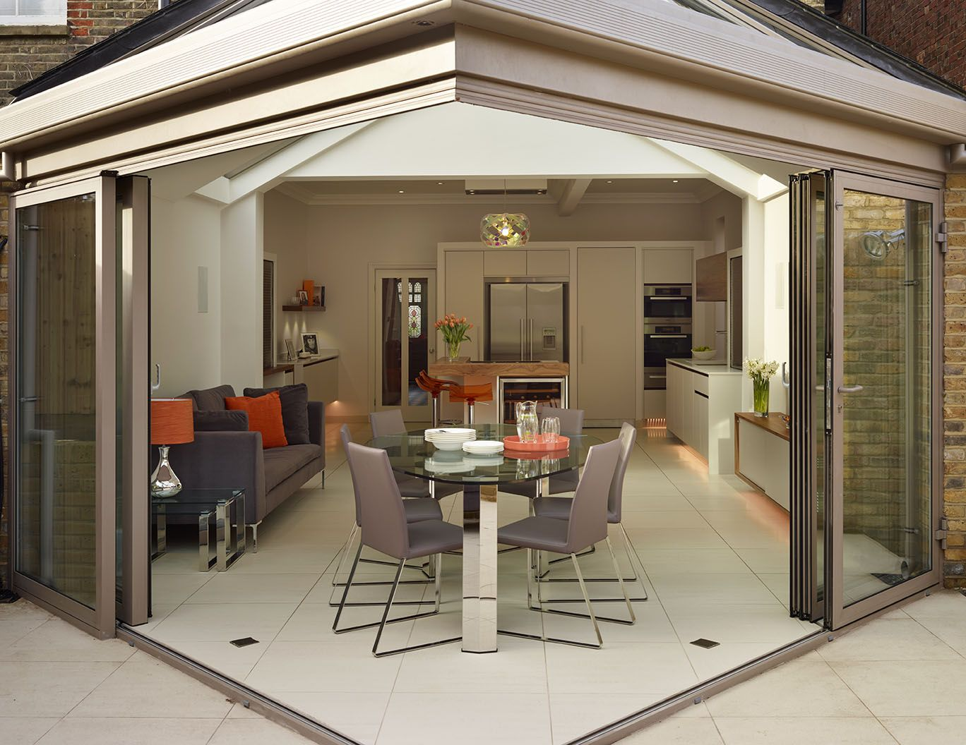 Roundhouse bespoke kitchen contributes to a seamless flow ... on Bespoke Outdoor Living id=62468
