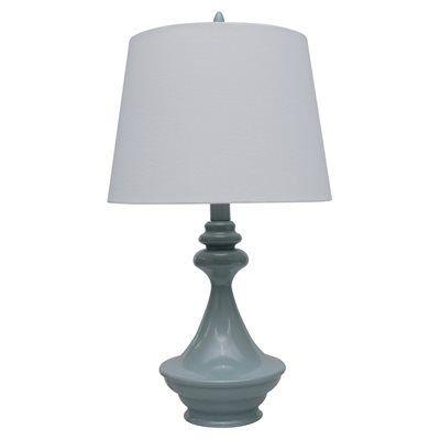 Catalina Gray Painted Ceramic Table Lamp