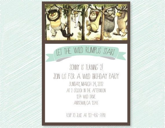 Where the Wild Things Are Birthday Party or Baby Shower Printable
