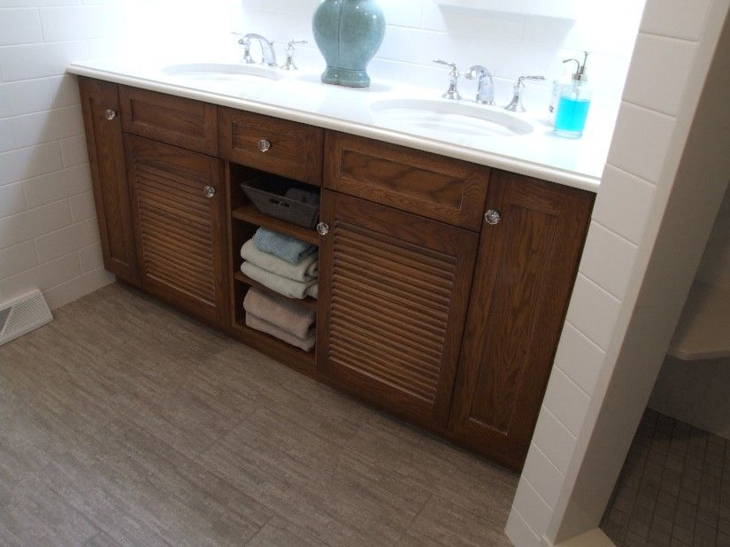 Louvered Bathroom Vanity Image Google Search Bathroom - Louvered door bathroom vanity