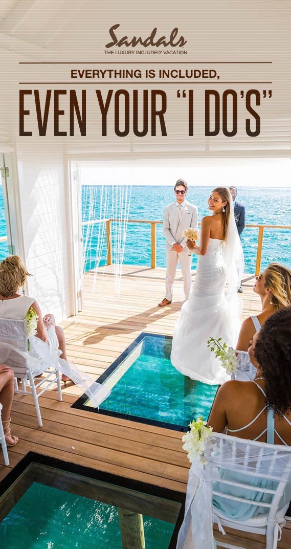 4501db724cdbb Over the water wedding chapel at Sandals South Coast