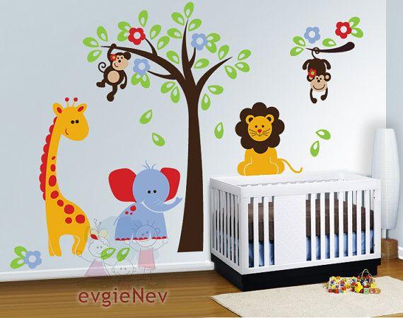 Nursery Wall Decals Baby Wall Decal Safari Wall Decal Children Wall Decals Kids Wall Decals Plsf010r Baby Wall Decals Nursery Wall Decals Baby Nursery Wall Decals