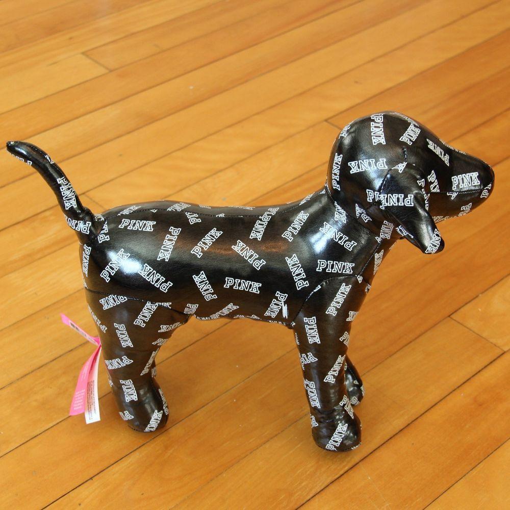 Victoriaus secret pink puppy dog black u white stuffed animal plush