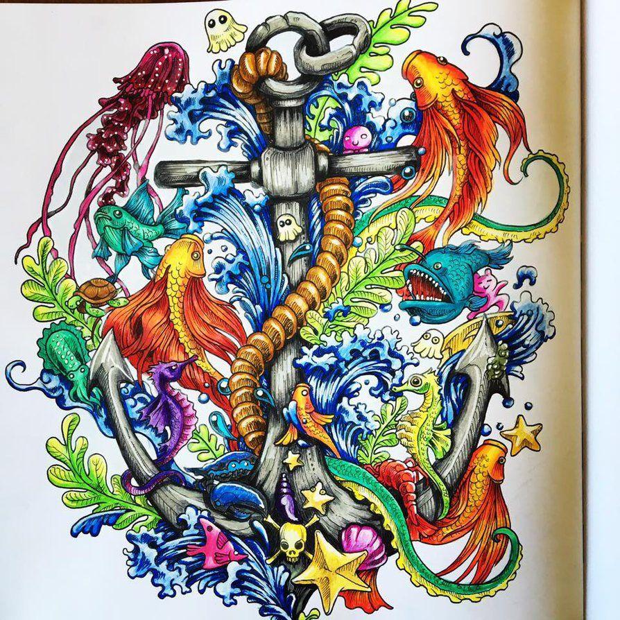 Imagimorphia Colouring Book By Pixelnsprites Animorphia Coloring Book Coloring Book Art Coloring Books
