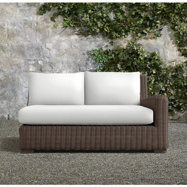Woven Belgian Slope Arm Two Seat Right Arm Sofa ($1,695) ❤ Liked