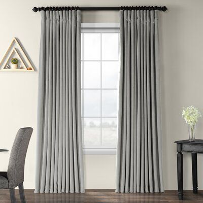 Rhinehart Solid Blackout Thermal Rod Pocket Single Curtain Panel Size Per Panel 100 W X 120 L Curtain Color