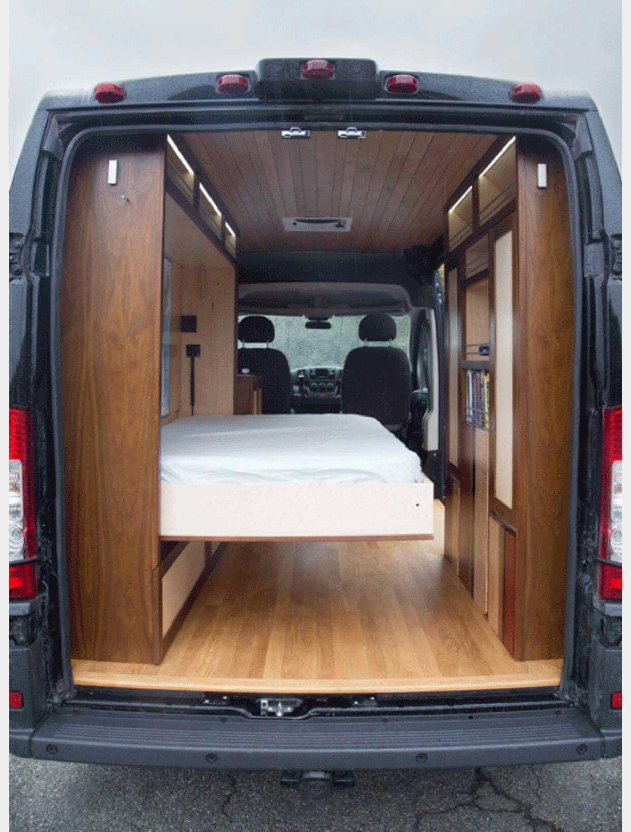 d4a7ceeafc Murphy bed for a van - Imgur  carcampingbedvehicle  carcampingbedideas  Campervan Storage Ideas