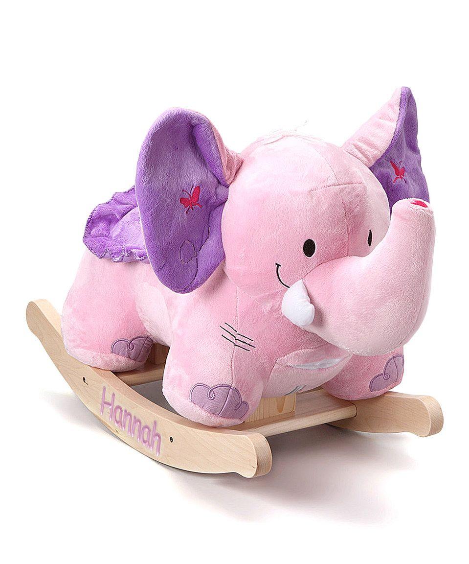 Look what I found on #zulily! Bella the Pink Elephant Personalized Rocker by Rockabye #zulilyfinds