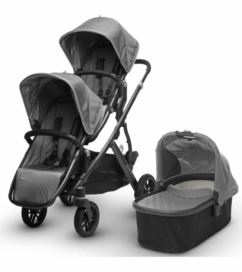UPPAbaby 2017 Vista Double Stroller Pascal (Grey/Carbon