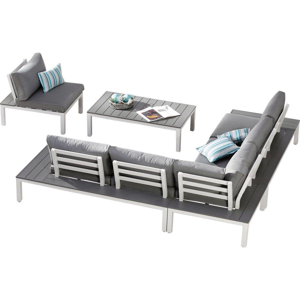 Lounge-Gruppe Santorin 4-tlg. Weiß-Grau Jetzt bestellen unter: https ...