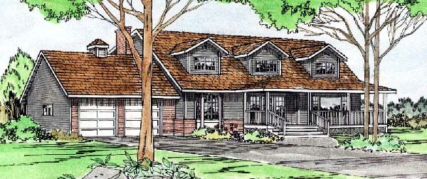 House Plan 90816 | Country    Plan with 2369 Sq. Ft., 4 Bedrooms, 3 Bathrooms, 2 Car Garage