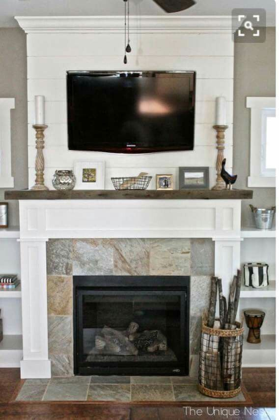 Fireplace cover up | House Renovations | Pinterest ...